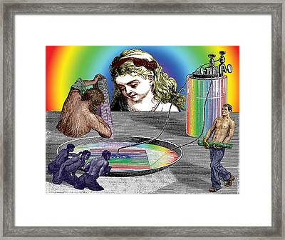 The Ring Of Invention Framed Print by Eric Edelman