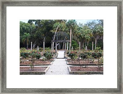 The Ringling Rose Garden Framed Print