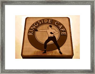 The Ringside Cafe Framed Print by David Lee Thompson