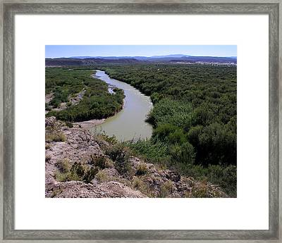 Framed Print featuring the photograph The Rio Grande River by Karen Musick