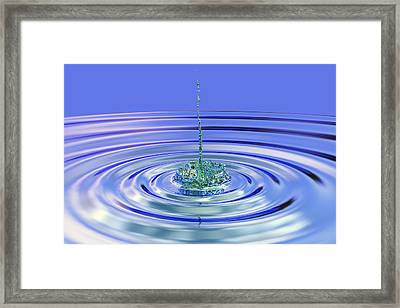 The Ripple Effect Framed Print by Betsy Knapp