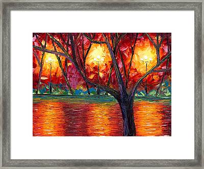 The Rise Of Fall Framed Print by Jessilyn Park