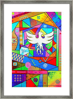 The Rise Of The Phoenix Framed Print by Jeremy Aiyadurai