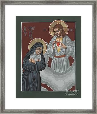 St Margaret Mary And The Sacred Heart 238 Framed Print