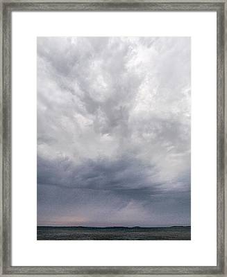 Framed Print featuring the photograph The Rising Storm 2 by Jouko Lehto