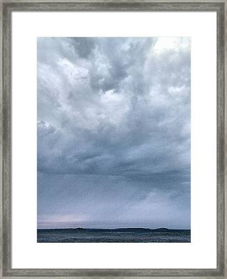 Framed Print featuring the photograph The Rising Storm by Jouko Lehto
