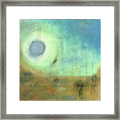 Framed Print featuring the painting The Rising Sun by Michal Mitak Mahgerefteh