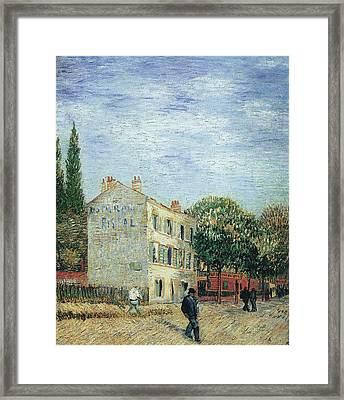 The Rispal Restaurant At Asnieres, 1887 Framed Print by Vincent Van Gogh