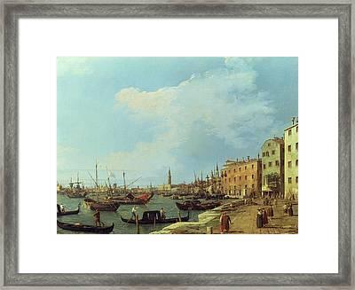The Riva Degli Schiavoni Framed Print by Canaletto
