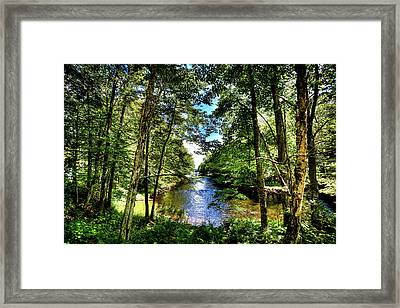 Framed Print featuring the photograph The River At Covewood by David Patterson