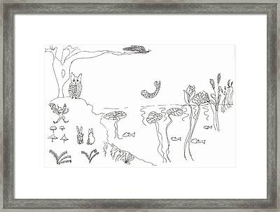 The River Bank Framed Print