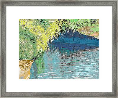 The River Cave Framed Print