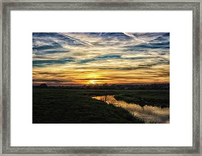 The River Colne Framed Print by Martin Newman