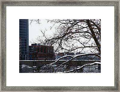 The River Divide Framed Print