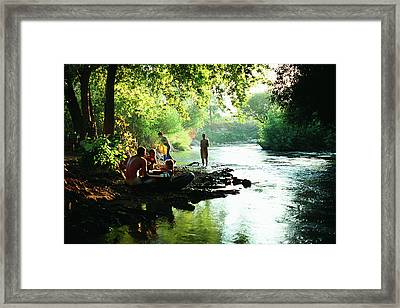 Framed Print featuring the photograph The River by Dubi Roman