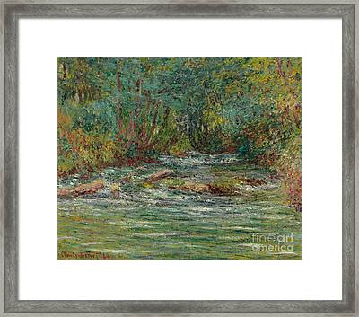 The River Epte At Giverny In Summe Framed Print by Claude Monet