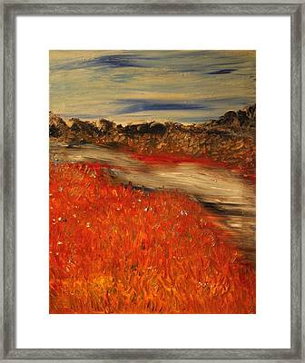 Framed Print featuring the painting The River by Evelina Popilian