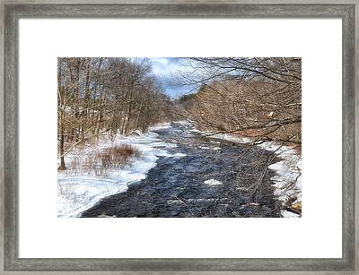 The River In Winter Framed Print
