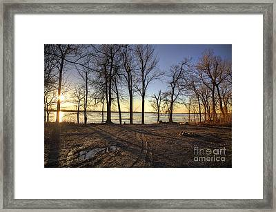 The River Framed Print by Larry Braun