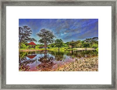 The River Framed Print by Nadia Sanowar