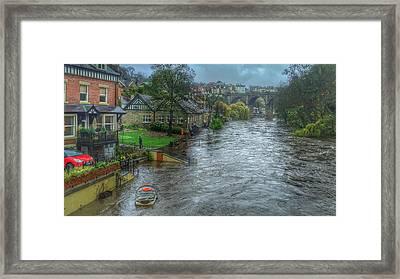 The River Nidd In Flood At Knaresborough Framed Print
