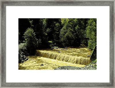 The River Framed Print by Pit Hermann
