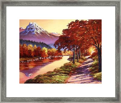 The River Runs Gold Framed Print