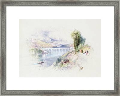 The River Schuykill Framed Print by Thomas Moran