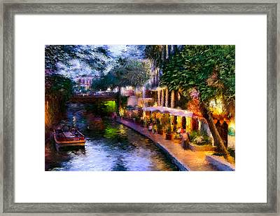 The River Walk Framed Print by Lisa  Spencer