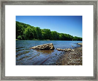 Framed Print featuring the photograph The River's Edge by Mark Miller