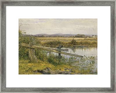 The Riverside Framed Print by John Edward Newton