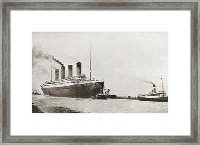 The Rms Titanic Of The White Star Line Framed Print