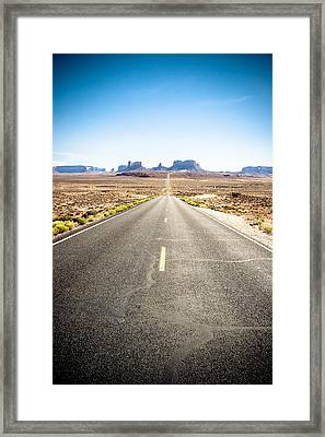 Framed Print featuring the photograph The Road Ahead by Jason Smith