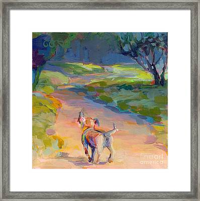 The Road Ahead Framed Print by Kimberly Santini