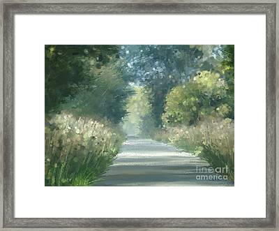 The Road Back Home Framed Print