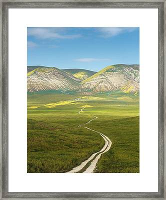 The Road Down Framed Print