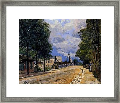 The Road From Gennevilliers Framed Print by MotionAge Designs