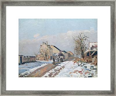The Road From Gisors To Pontoise Framed Print by Camille Pissarro