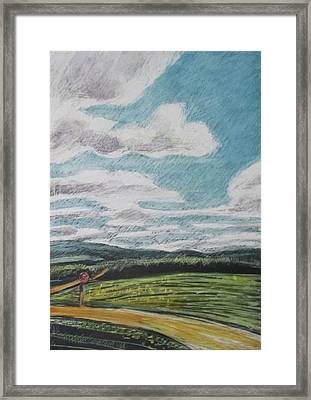 The Road Goes On Framed Print by Grace Keown