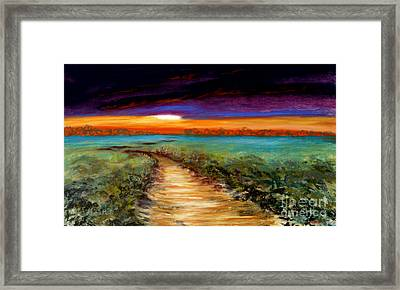 The Road Home Framed Print by Addie Hocynec