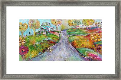 Framed Print featuring the painting The Road Home by Claire Bull
