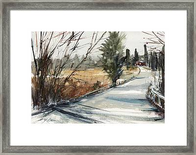 The Road Home Framed Print by Judith Levins