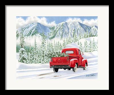 Snowy Roads Framed Prints