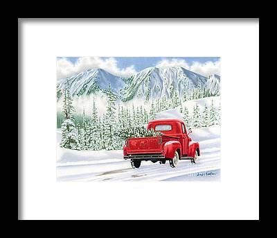 Mountain Scene Framed Prints