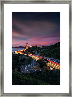 The Road In... San Francisco Framed Print by Vincent James