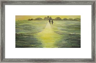 The Road In The Ocean Of Light Framed Print by Karina Ishkhanova