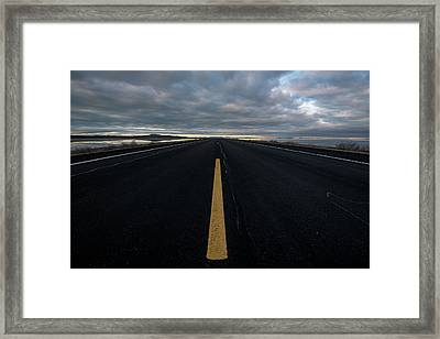 The Road Framed Print by Justin Johnson