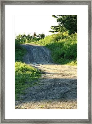 The Road Less Taken Framed Print by Laurie Breton