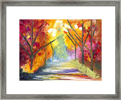 The Road Less Traveled Framed Print by Jessilyn Park