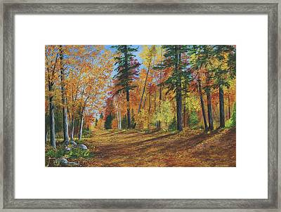 Framed Print featuring the painting The Road Less Traveled by Ken Ahlering